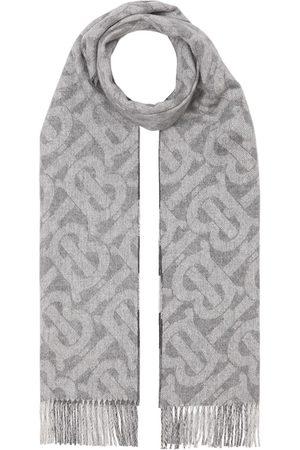 Burberry Tørklæder - Ternet vendbart tørklæde i kashmir med monogram
