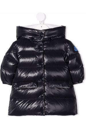 Moncler Baby Vinterfrakker - Hooded patch-detail padded coat