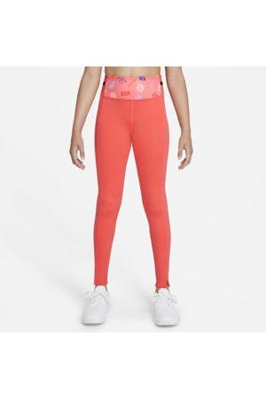 Nike Dri-FIT One Luxe-leggings med print til større børn (piger)