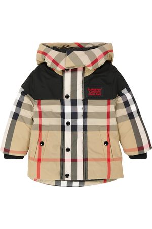 Burberry Checked hooded coat