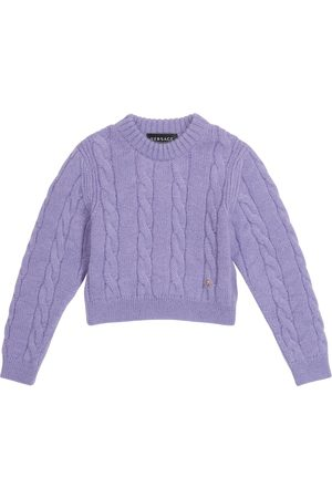 VERSACE Wool and mohair-blend sweater