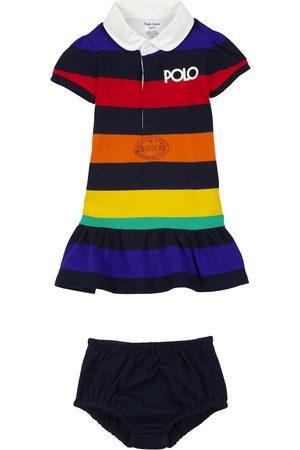 Ralph Lauren Babysæt - Baby striped dress and bloomers set