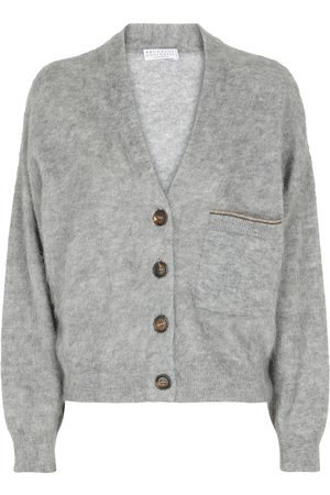 Brunello Cucinelli Mohair, wool and cashmere-blend cardigan