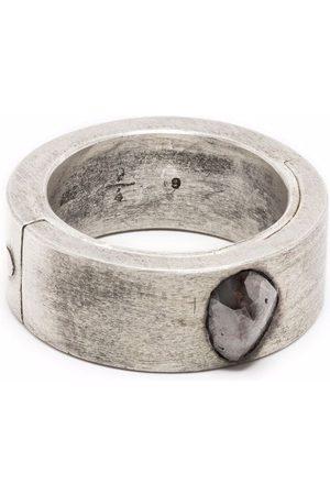 Parts of Four Sistema ring (0.98 CT, Chunky Diamond Slab, 9mm, MA+DIA)