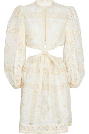 ZIMMERMANN Aliane broderie anglaise cotton minidress