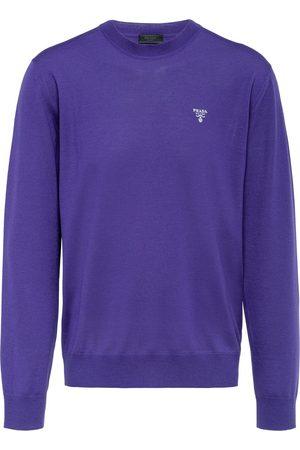 Prada Mænd Sweatshirts - Sweatshirt med broderet logo og rund hals