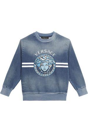 VERSACE Medusa cotton-blend sweatshirt
