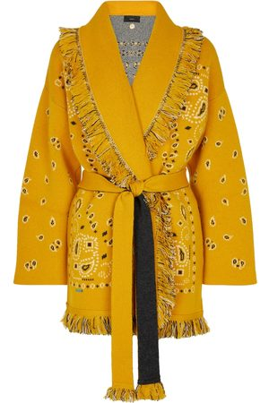Alanui Kvinder Cardigans - Bandana cashmere-blend jacquard wrap cardigan