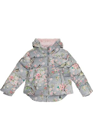 MONNALISA Floral quilted jacket