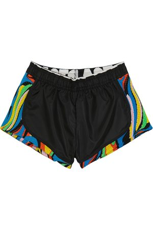 Stella McCartney Printed mesh-panel shorts