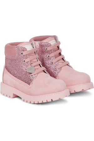 MONNALISA Piger Ankelstøvler - Glitter and suede ankle boots