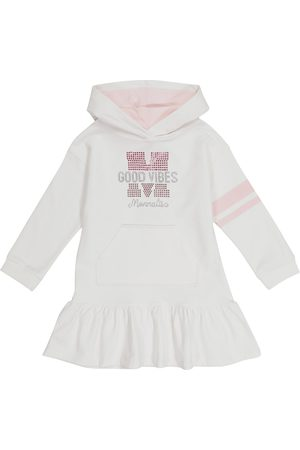 MONNALISA Good Vibes embellished hoodie dress
