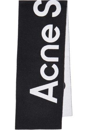 Acne Studios Logo wool-blend jacquard scarf