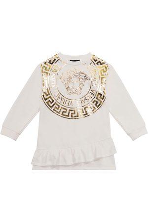 VERSACE Piger Sweatshirts - Medusa stretch-cotton sweatshirt dress
