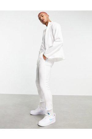 ASOS Elegante tapered croppede bukser i med høj glans - Del af sæt