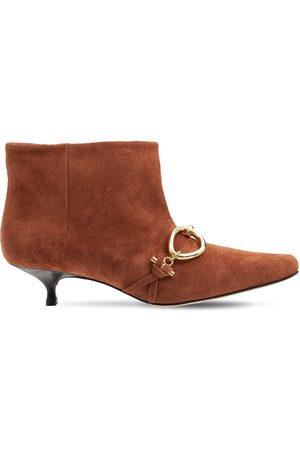 J.W.Anderson Kvinder Ankelstøvler - 40mm Embellished Suede Ankle Boots