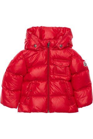 Moncler K2 Hooded Nylon Down Jacket W/ Fur