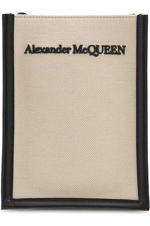 ALEXANDER MCQUEEN Mænd Skuldertasker - Logo Mini Canvas Crossbody Bag