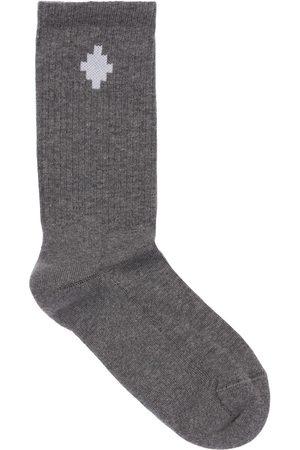 MARCELO BURLON Logo Cotton Blend Socks