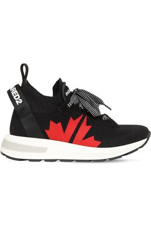 DSQUARED2 Slip-on Knit Sneakers W/ Logo