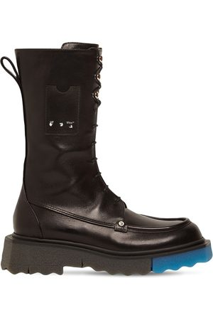 OFF-WHITE 40mm Leather Combat Boots