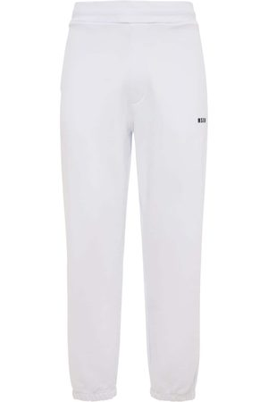 Msgm Logo Print Cotton Jersey Sweatpants