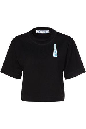 OFF-WHITE Kvinder Kortærmede - Triangle Logo Crop Jersey T-shirt