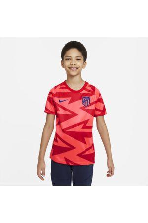 Nike Kortærmet Atlético Madrid Pre Match-fodboldtrøje til større børn