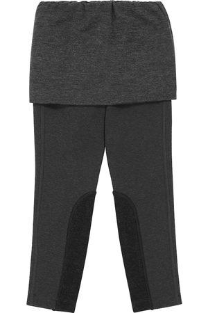 Brunello Cucinelli Cotton-blend jersey skirt and leggings