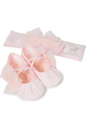 MONNALISA Baby headband and shoes set