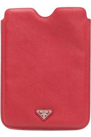 Prada Kvinder Clutches - Triangle-logo pouch