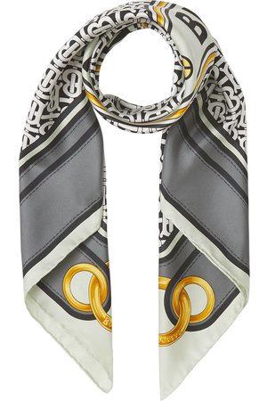 Burberry Tørklæder - Firkantet silketørklæde med Montage-tryk