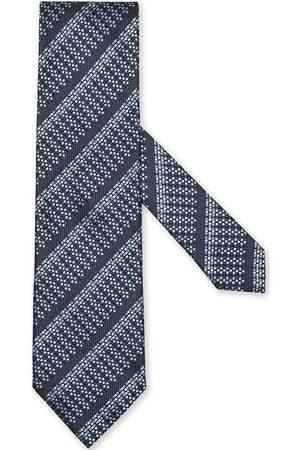 Ermenegildo Zegna Mænd Slips - Silkeslips med diagonale striber og jacquard