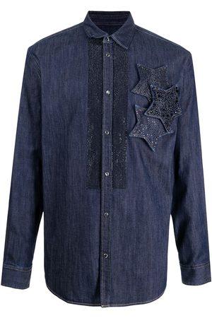 Dsquared2 Star patch denim shirt