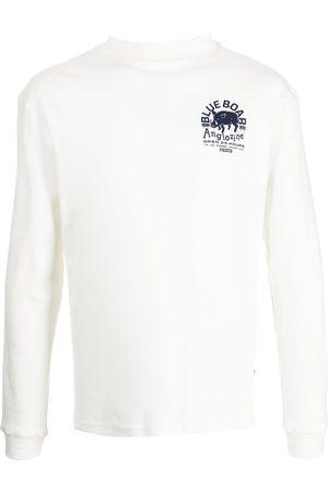 Anglozine Mænd Langærmede - Langærmet Blue Boar T-shirt med grafisk tryk