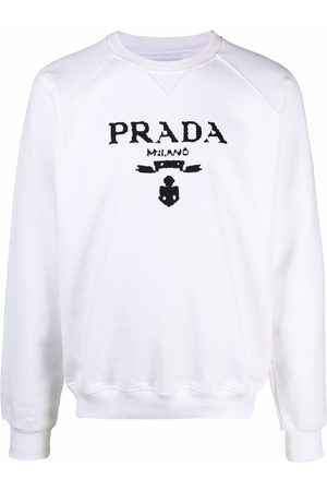 Prada Logo-print long-sleeve sweatshirt