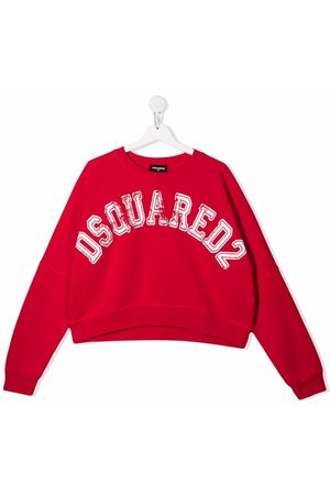 Dsquared2 TEEN distressed logo sweater