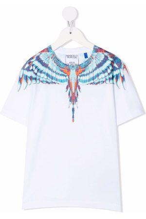 MARCELO BURLON Drenge Kortærmede - T-shirt med vingetryk