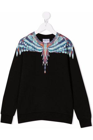 MARCELO BURLON Sweatshirt med vingetryk