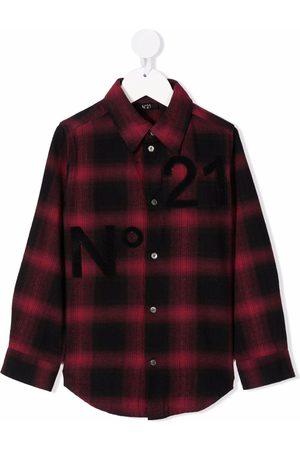 Nº21 Check-print cotton shirt