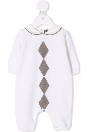 LITTLE BEAR Baby Pyjamas - Diamond virgin wool pyjamas