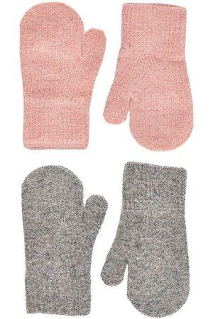 CeLaVi Handsker - Luffer - Uld/Nylon - 2-pak - Misty Rose/Gråmeleret