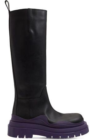 Bottega Veneta 55mm Bv Tire Leather Tall Boots