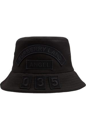 Burberry Cotton Canvas Badge Bucket Hat