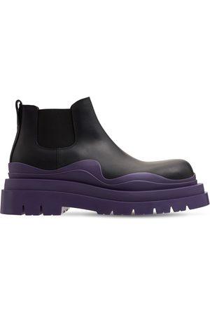 Bottega Veneta Bv Tire Leather Chelsea Mid Boots