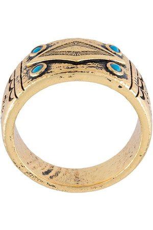 Nialaya Mænd Ringe - Graveret ring med onyx