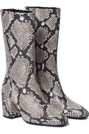 Aeydē Lori snake-print leather boots