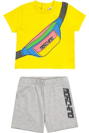 Moschino Kids Baby printed stretch-cotton T-shirt and shorts set