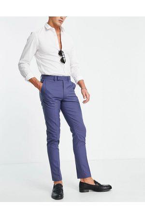 ASOS Skinny-habitbukser i marineblå