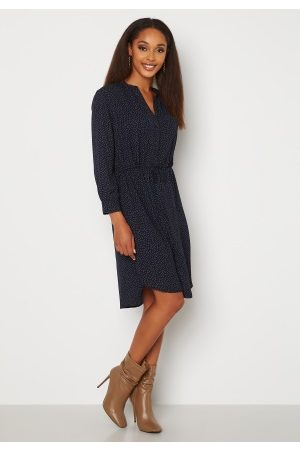 SELECTED Damina 7/8 Print Dress Dark Sapphire Dot 40